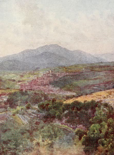 Rome, Painted and Described - Subiaco from the Monastery of S. Benedict (1905)