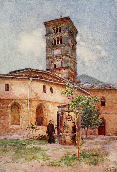 Rome, Painted and Described - Garden of the Monastery of Santa Scholastica, Subiaco (1905)