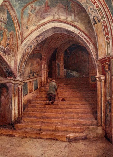Rome, Painted and Described - Holy Stairs at the Sagro Speco (1905)