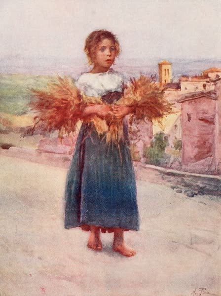 Rome, Painted and Described - Little Gleaner in the Campagna (1905)
