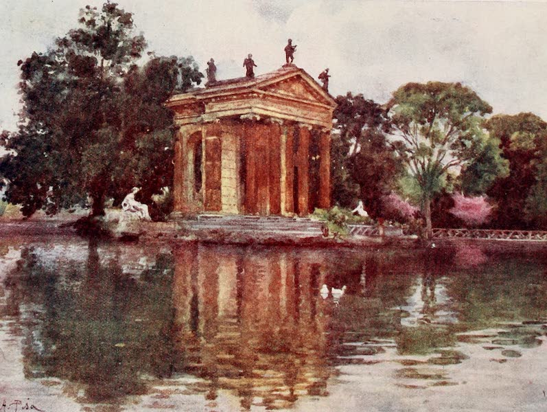 Rome, Painted and Described - Ornamental Water, Villa Borghese (1905)