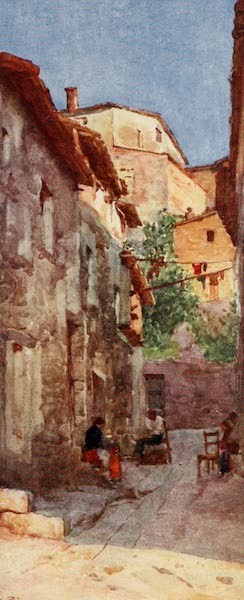 Rome, Painted and Described - Village Street at Anticoli, in the Sabine Hills (1905)