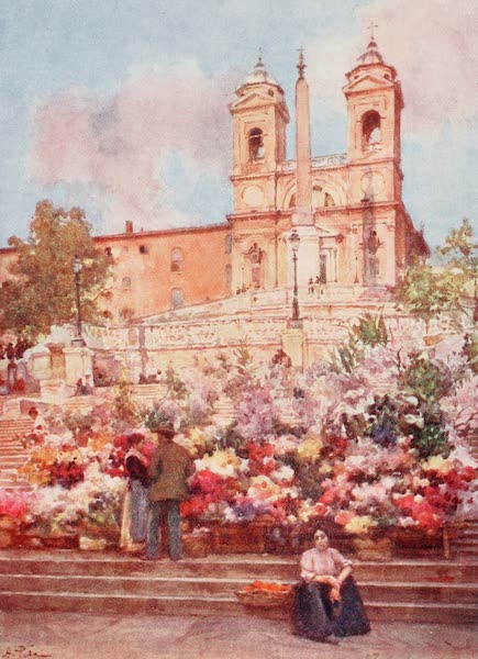 Rome, Painted and Described - The &34;Spanish Steps,&34; Piazza di Spagna (1905)