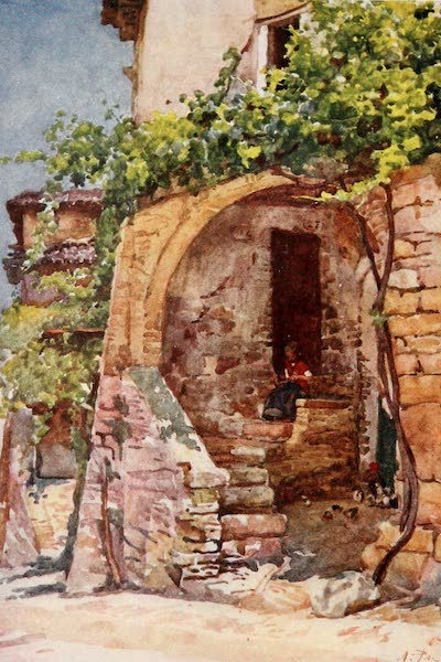 Rome, Painted and Described - A Rustic Dwelling in the Roman Campagna (1905)