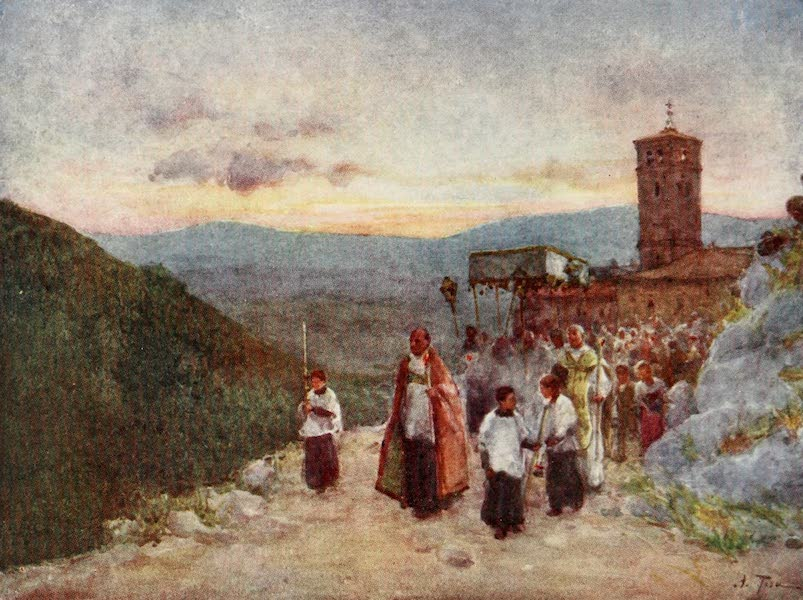 Rome, Painted and Described - Procession with the Host at Subiaco (1905)
