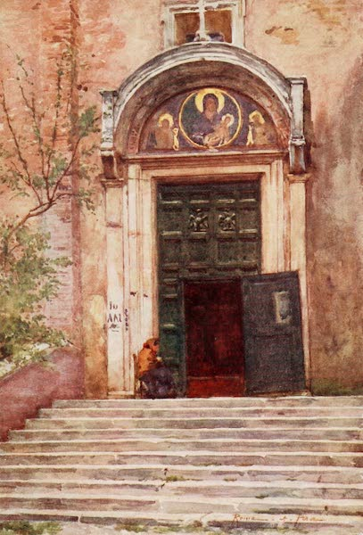 Rome, Painted and Described - Entrance to Ara Coeli from the Forum (1905)