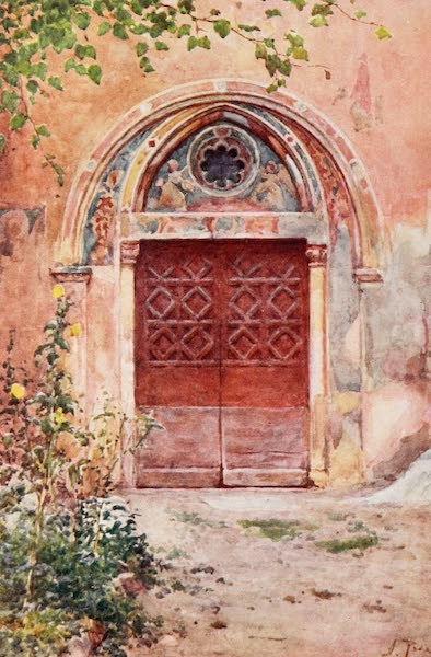 Rome, Painted and Described - Doorway of the Monastery of S. Benedict (Sagro Speco) at Subiaco (1905)
