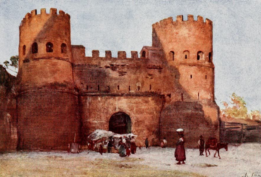 Rome, Painted and Described - Porta San Paolo (1905)