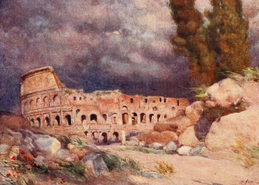 Rome, Painted and Described - The Colosseum in a Storm (1905)