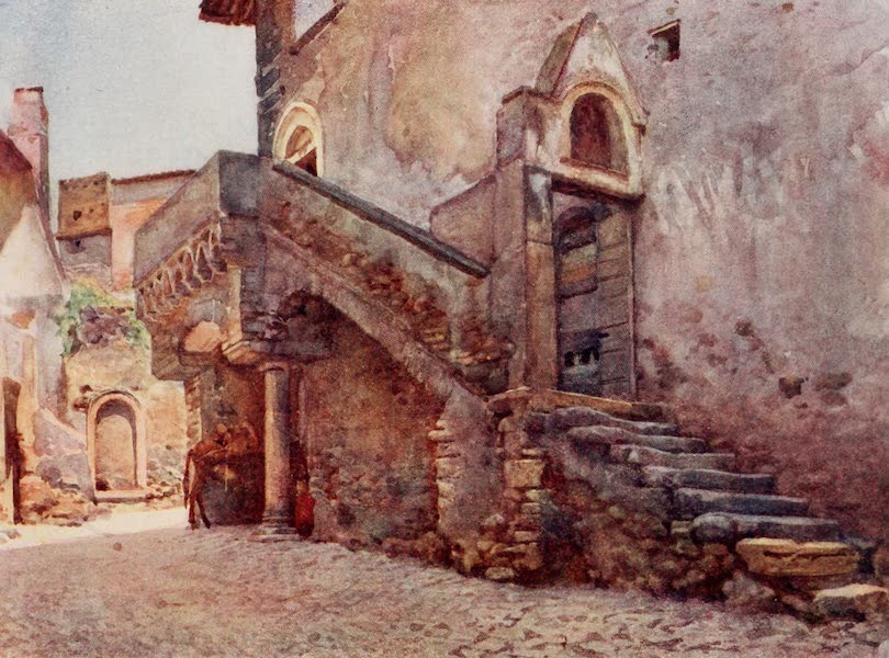 Rome, Painted and Described - Mediaeval House at Tivoli (1905)