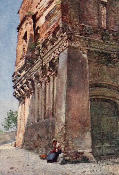 Rome, Painted and Described - &34;House of Cola di Rienzo,&34; by Ponte Rotto (1905)