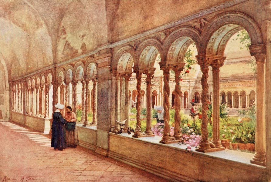Rome, Painted and Described - Cloisters of S. Paul's-without-the-Walls (1905)