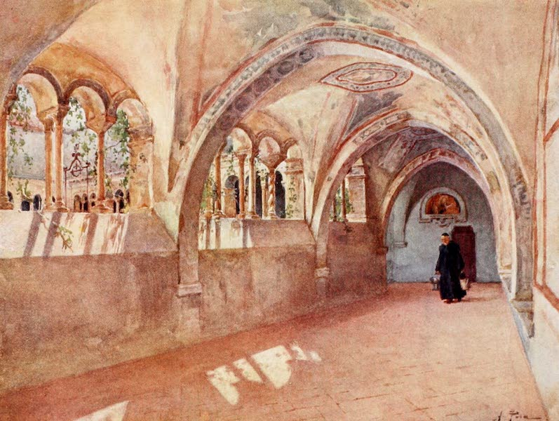 Rome, Painted and Described - Cloisters in Santa Scholastica, Subiaco (1905)