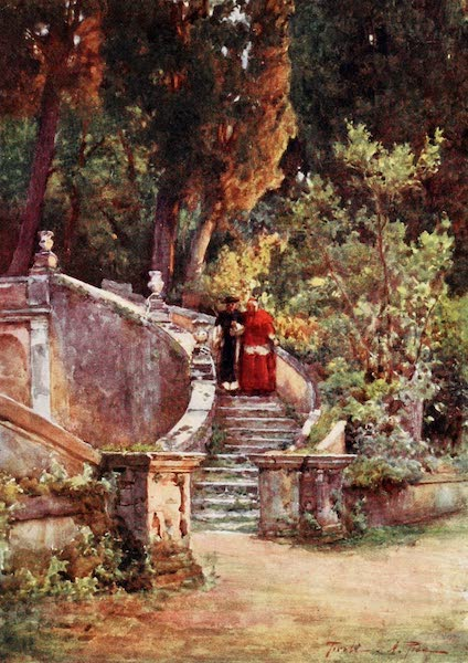 Rome, Painted and Described - A Cardinal in Villa d'Este (1905)