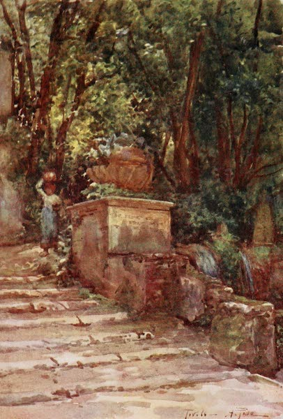 Rome, Painted and Described - Villa d'Este - Path of the Hundred Fountains (1905)
