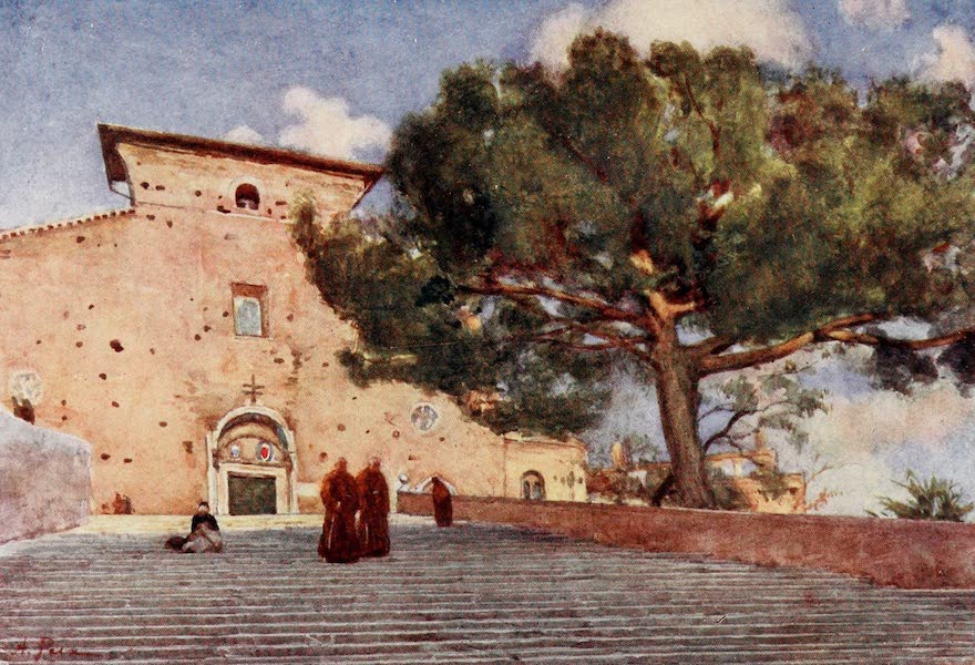 Rome, Painted and Described - The Steps of Ara Coeli (1905)
