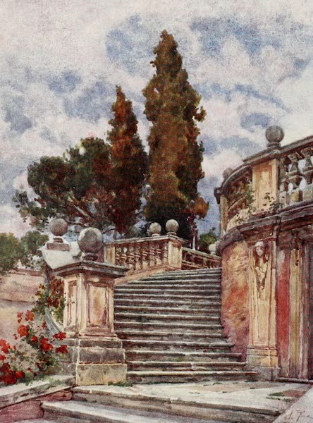 Rome, Painted and Described - Steps of the Church of SS. Domenico and Sisto (1905)