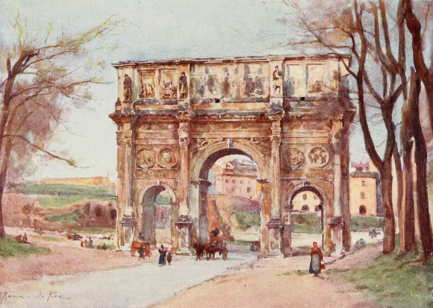 Rome, Painted and Described - Arch of Constantine (1905)