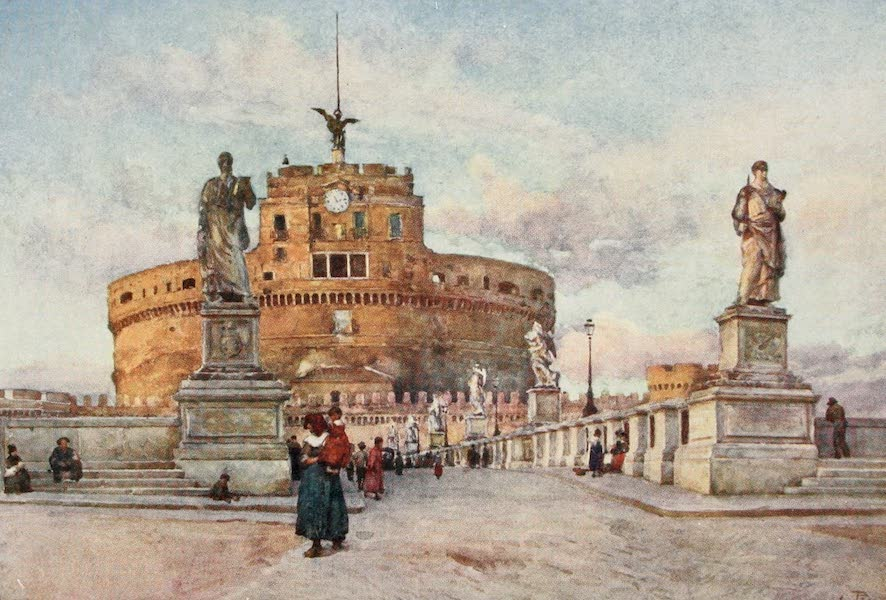 Rome, Painted and Described - Castel and Ponte Sant' Angelo (1905)