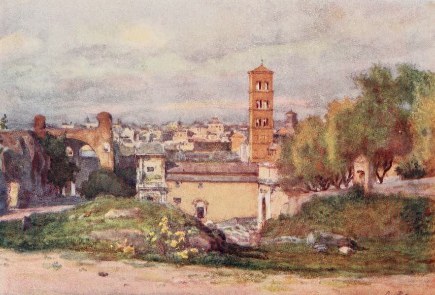 Rome, Painted and Described - From the Terrace of the House of Domitian (1905)