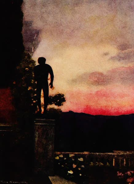 Royal Palaces and Gardens - Sunset, the Achilleion, Corfu (1916)