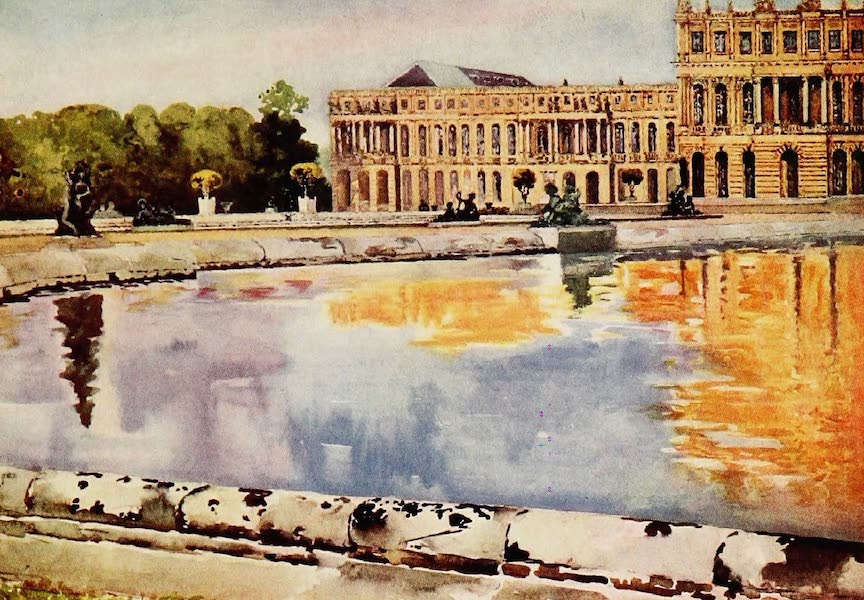 Royal Palaces and Gardens - The North Wing of the Palace, from the Parterre d'Eau, Versailles (1916)