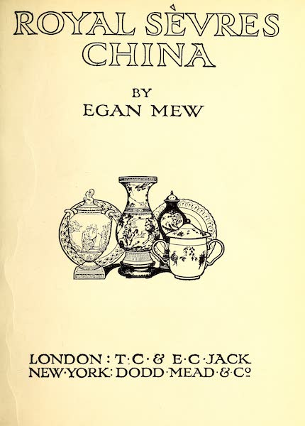 Royal Sèvres China - Title Page (1909)