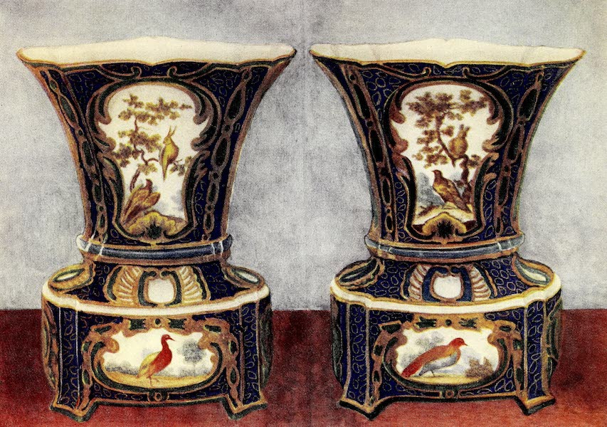 Royal Sèvres China - Vase Jardiniere in Blue and Green (1909)