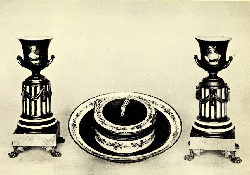 Royal Sèvres China - A Bleu de Roi Butter-Dish, and Vases (1909)