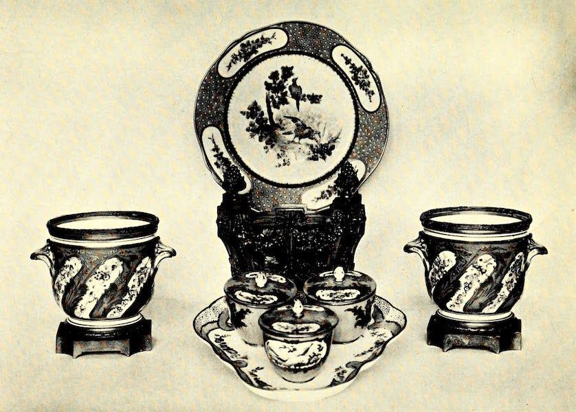 Royal Sèvres China - Plate, Toilet Pieces, and Flower-Pots (1909)