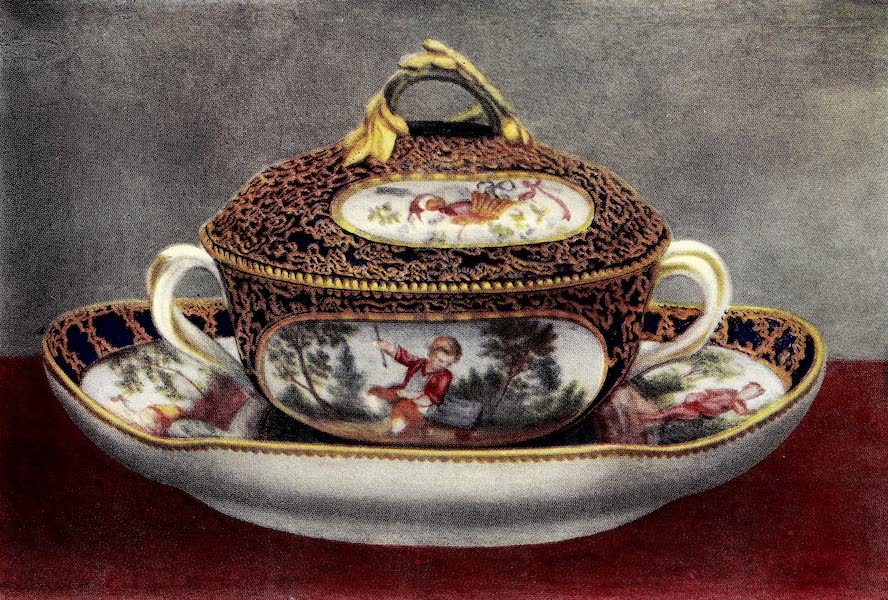 Royal Sèvres China - Bowl, Cover, and Stand (1909)