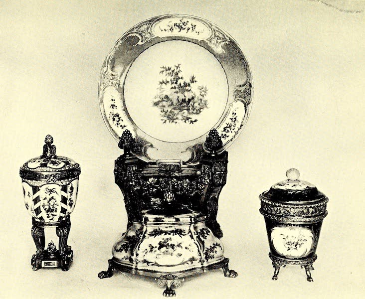 Royal Sèvres China - An Early Inkstand, Two Vases, and a Plate (1909)