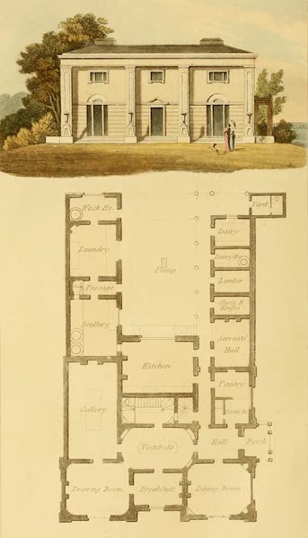 Rural Residences - Plan of a Cottage One (1818)