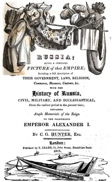 Russia: Being a Complete Picture of that Empire - Title Page (1817)