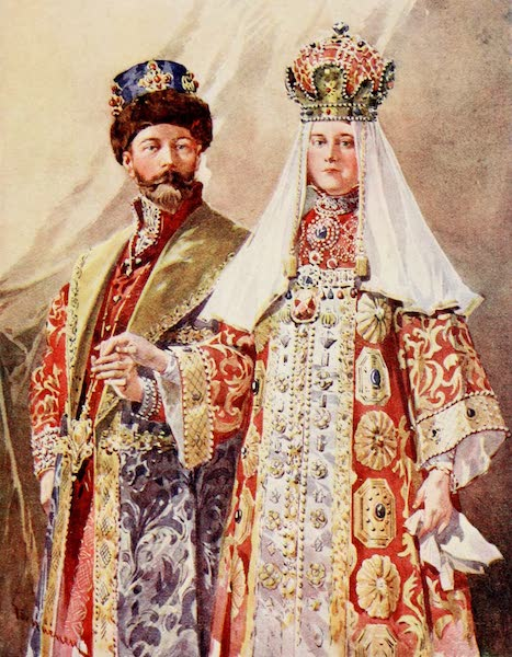 Russia, Painted and Described - The Emperor and Empress in Ancient Dress (1913)