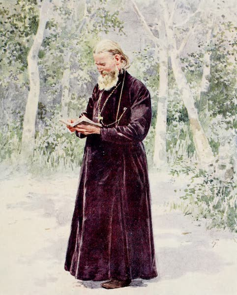 Russia, Painted and Described - The late Father John of Cronstadt in his Garden (1913)