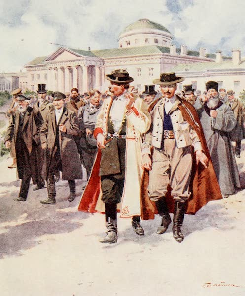 Russia, Painted and Described - The Members leaving the Dooma (1913)