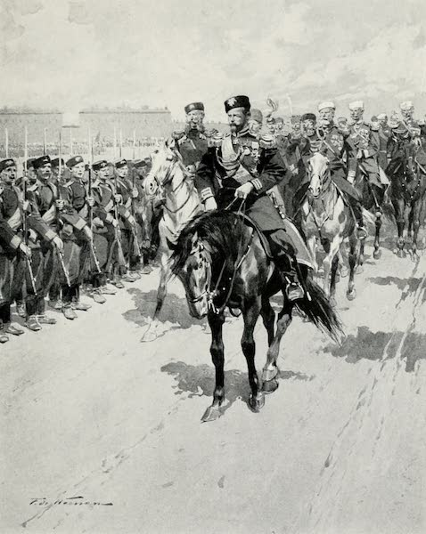 Russia, Painted and Described - The Tsar Reviewing his Troops (1913)