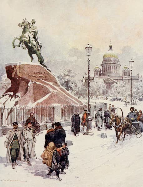 Russia, Painted and Described - Monument of Peter I. at St. Petersburg (1913)