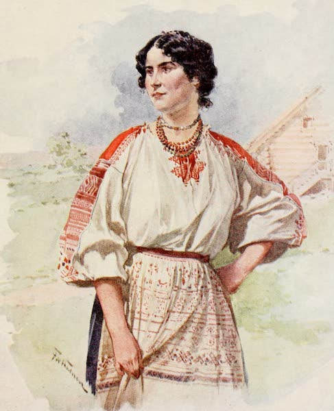 Russia, Painted and Described - A Russian Servant in Summer Dress (1913)