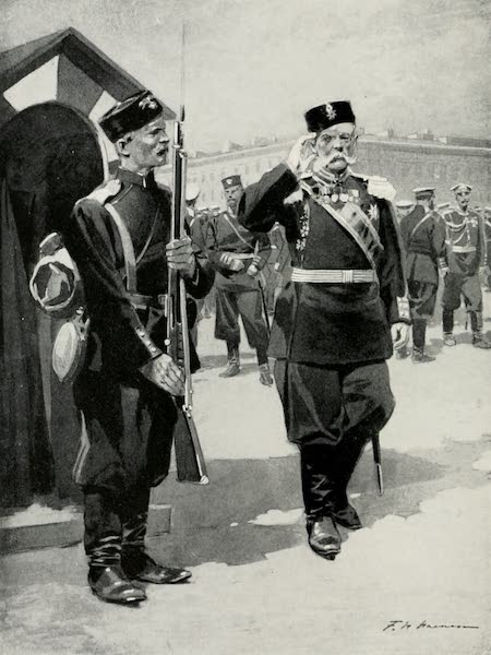 Russia, Painted and Described - Officer and Sentinel (1913)