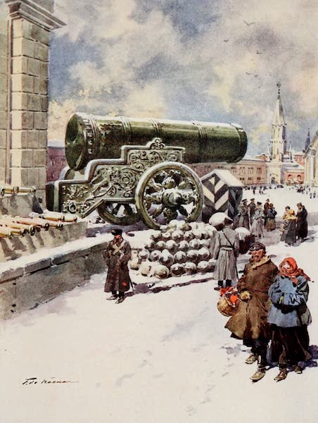 Russia, Painted and Described - The 'Tsar' Gun, Moscow (1913)