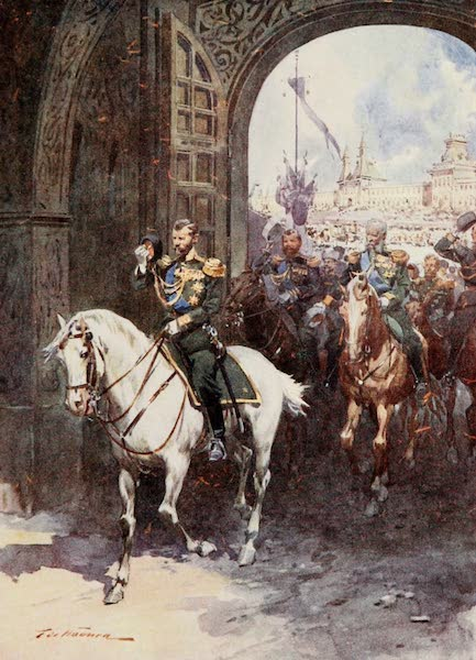 Russia, Painted and Described - The Spassky (Saviour) Gate of the Kremlin (1913)