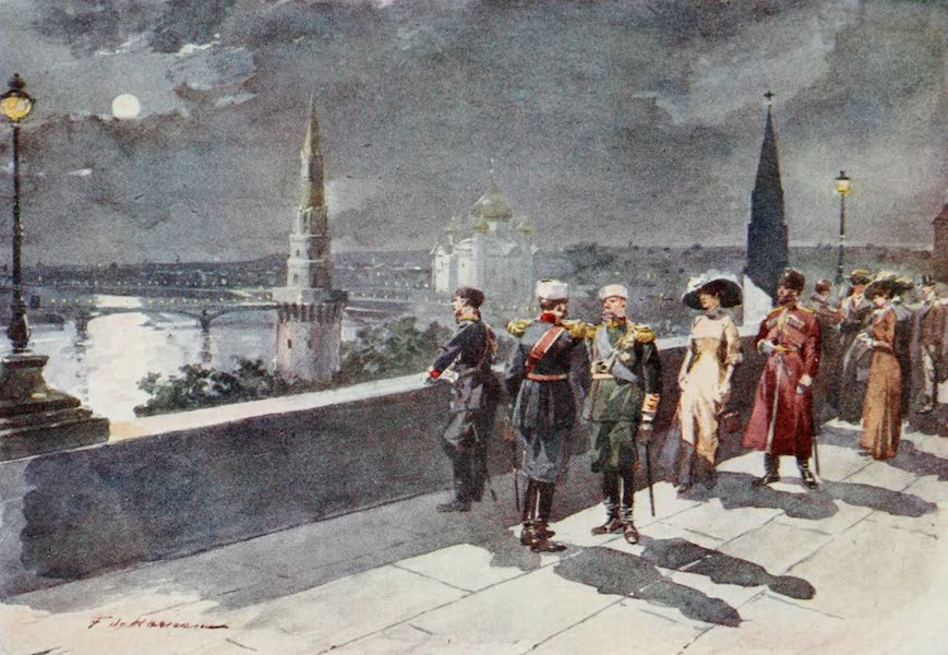 Russia, Painted and Described - Terrace of the Kremlin, Moscow (1913)