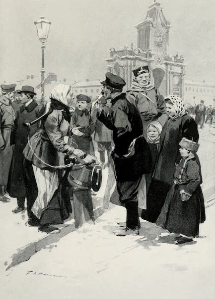 Russia, Painted and Described - A Street Vendor of Salt Herrings (1913)