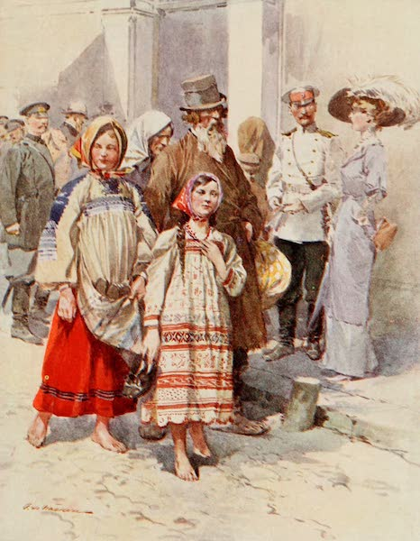 Russia, Painted and Described - Peasants visiting Moscow (1913)