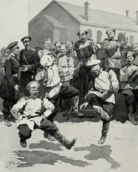 Russia, Painted and Described - Soldiers Dancing in Barracks (1913)