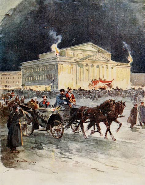 Russia, Painted and Described - The Imperial Opera House after a Gala Performance (1913)