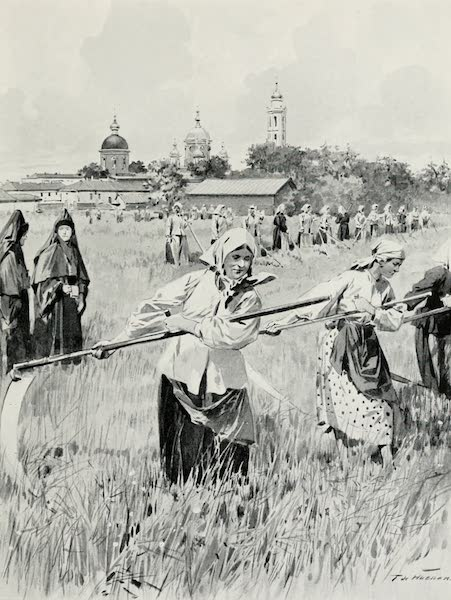 Russia, Painted and Described - A Convent in Novogorod : Nuns Making Hay (1913)