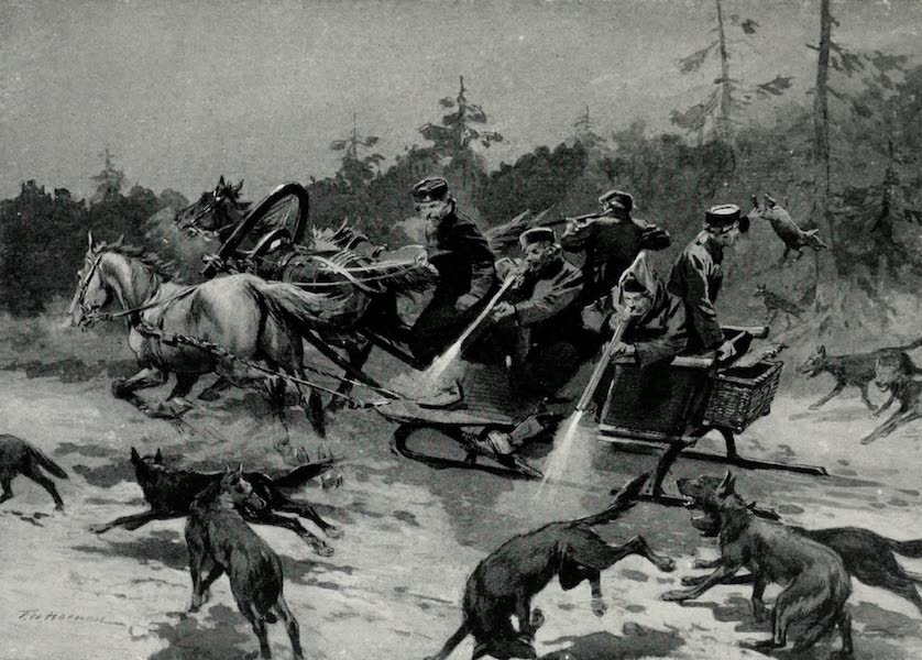 Russia, Painted and Described - A Wolf-Hunt (1913)